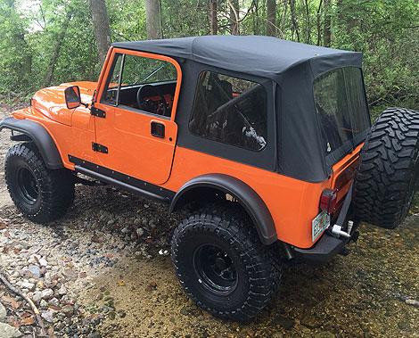 Orange Jeep - Overbuilt Customs
