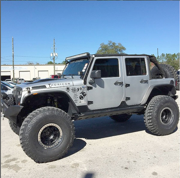 Overbuilt Customs Silver Jeep